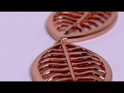 Rose Gold Triple Leaf Drop Pendant