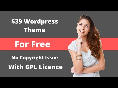 $39 Premium Wordpress Theme For Free With Licence | Limited Time Offer