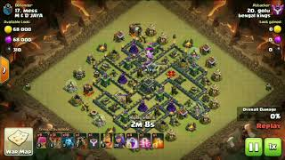 clash of clans battle strategy town hall 9