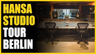 Warren Huart checks out the EVE SC408s monitors in Hansa Studios, Berlin