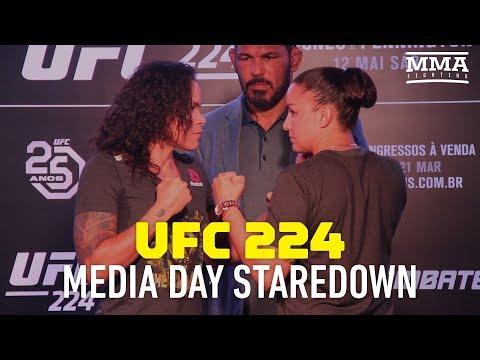 UFC 224: Amanda Nunes vs. Raquel Pennington Media Day Staredown - MMA Fighting