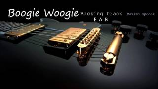 BOOGIE WOOGIE BACKING TRACK IN E