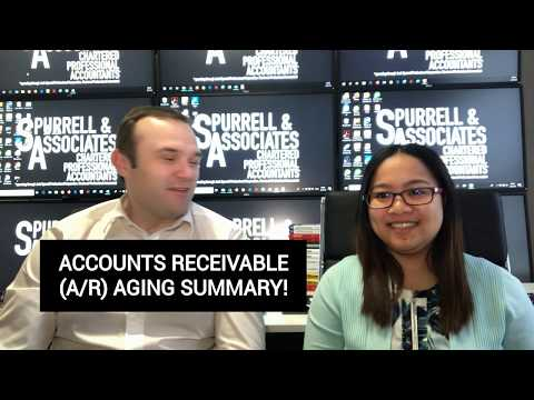 Accounts Receivable AR Aging Summary