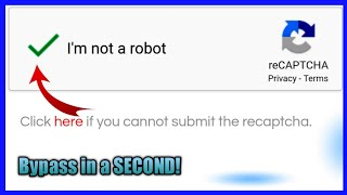 [Trick 2020] Bypass I'm not a robot reCAPTCHA in a SECOND / Demo