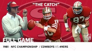 """""""The Catch"""" Cowboys vs. 49ers 1981 NFC Championship   NFL Full Game"""