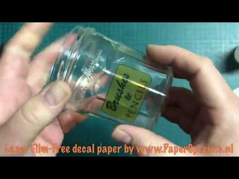 Instructions for Laser FilmFree decal paper application