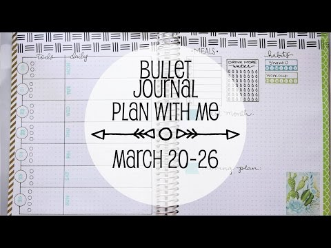 Bullet Journal Plan With Me March 20th-26th   www.sunshinestickerco.com