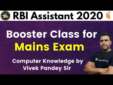 RBI Assistant Mains 2020 | Special Computer Class by Pandey Sir | Booster Class