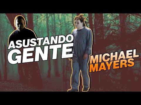 ASUSTANDO GENTE CON MICHAEL MYERS // BROMA HALLOWEEN