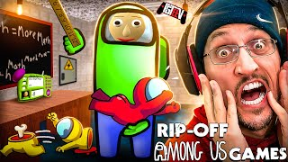 AMONG US Fake Mobile Games Compilation (FGTeeV Ripoff Review)