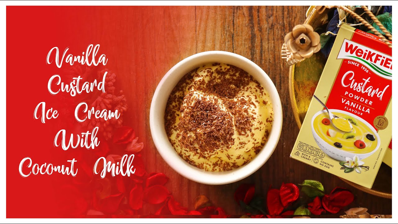 Custard Ice Cream with Coconut Milk Youtube Video