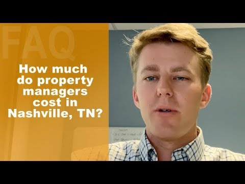 How Much Do Property Managers Cost In Nashville?