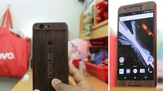Mahogany Wood DBrand Skin For Google Nexus 6P Unboxing