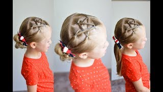 Fourth Of July Easy Mini Star Hairstyle   Qs Hairdos