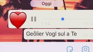 """Geolier """"Vogl Sul A Te"""""""