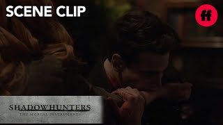 Shadowhunters | Season 2, Episode 10: Simon Drinks Clary's Blood | Freeform