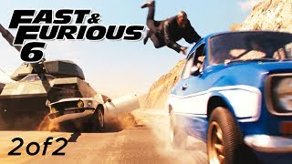 Tank Chase Scene 2of2 - FAST and FURIOUS 6 Escort, Mustang, Charger, Tank 1080p