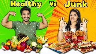 Healthy Food Vs Junk Food Challenge | Hungry Birds