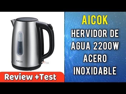 Hervidor de agua Eléctrico Aicok 1.7 Litros Acero Inoxidable | UnBoxing Review en Español