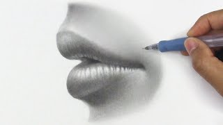 How To Draw Lips From The Side + Shading