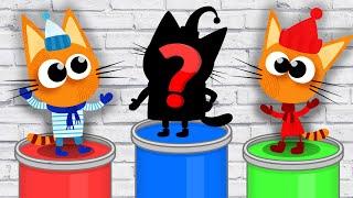 РАСКРАСКА. Раскрашиваем ТРИ КОТА и Учим цвета - Обучающее видео