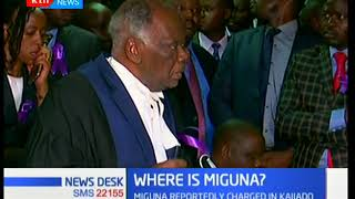Miguna Miguna's lawyers demand to start case proceedings after seeing him in Court
