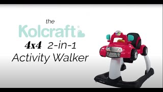 Introducing the Kolcraft 4x4 2-in-1 Activity Walker