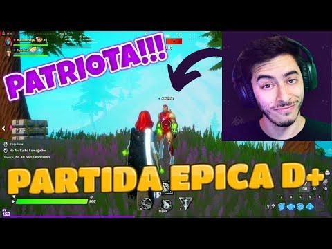 EU JOGUEI FORTNITE COM O PATRIOTA!!! | Gameplay em Portugus | @Patriota