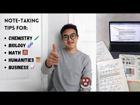 how to take notes DEPENDING ON THE SUBJECT *study tips from a HARVARD student*   PART 1