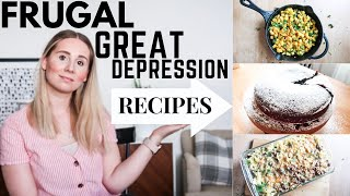 COOK WITH ME GREAT DEPRESSION INSPIRED RECIPES//5 FRUGAL MEALS THAT TASTE DELICIOUS[5 DOLLAR DINNER]