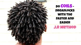 Men Hair: How To Coils / Dreadlock With The J.R METHOD - Fast & Easy