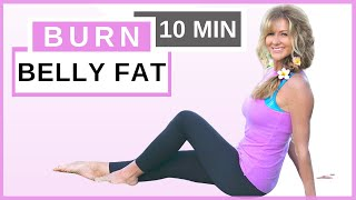 10 Minute Ab Workout For Women Over 50   Reduce Belly Fat Fast   Fabulous50s