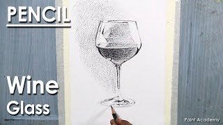 Pencil Drawing Techniques: Wine Glass | Shading Techniques Of Water Reflection