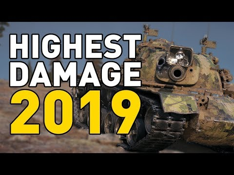 HIGHEST DAMAGE of 2019 in World of Tanks!