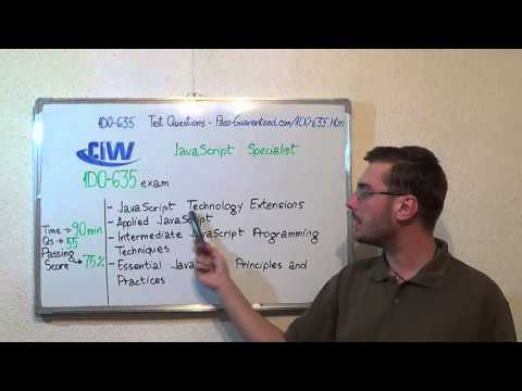 1D0-635 – CIW Exam JavaScript Specialist Test Certification ...