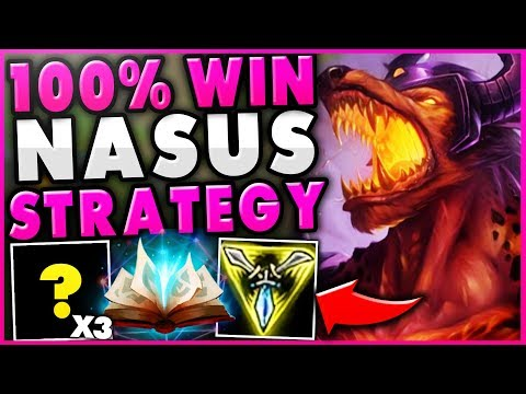 THIS NEW NASUS STRATEGY GUARANTEE'S HIS OP LATE-GAME! *UNBEATABLE NASUS TOP* - League of Legends