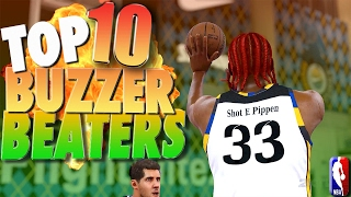 AMAZING BUZZER BEATERS & COME BACKS - NBA 2K17 TOP 10 PRO AM Plays