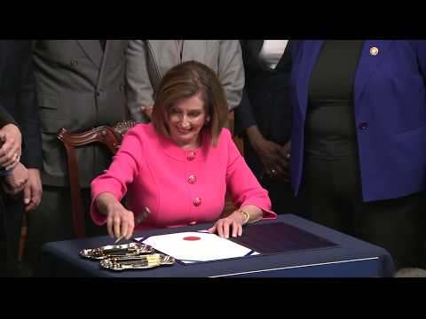 WATCH: Pelosi signs articles of impeachment
