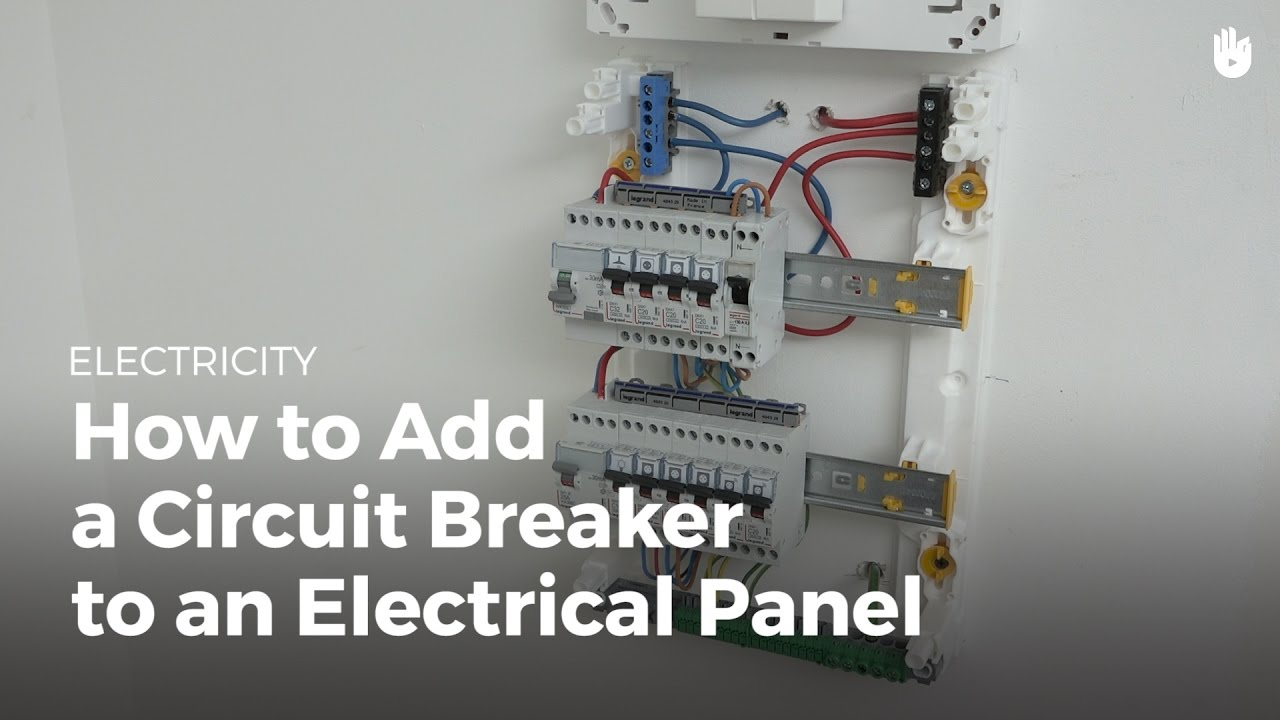 How to Add a Circuit Breaker to an Electrical Panel - Electricity ...