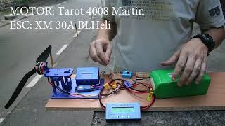 Brushless Motor Testing, Tarot 4008 Martin vs DYS 4108