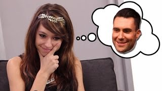Christina Grimmie Tests Adam Levine Trivia for The Voice!