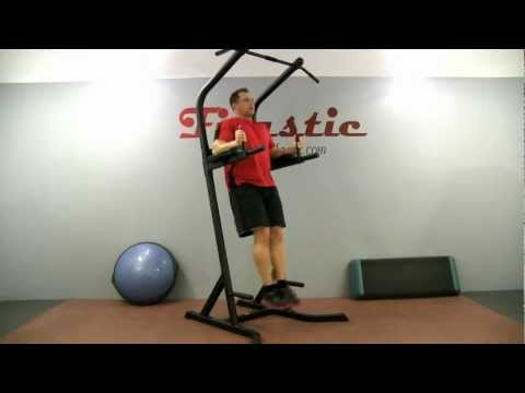 Incline Straight Leg Raise (arms on pads)