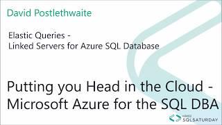 Azure SQL Database Elastic Queries