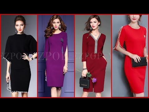 Trendy and Marvellous Collection of Simple/plan Bodycon Middy dresses /Stylish designer Dresses