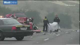 Horror as family of four among six killed in 'drunk driver wrong-way pileup' on California highway