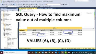 SQL Query   How to find Maximum of multiple columns   Values