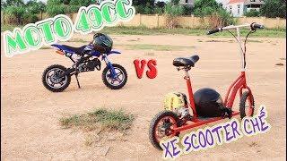 Chạy Thử Xe Moto Mini 49cc vs Xe Scooter Tự Chế - 4K