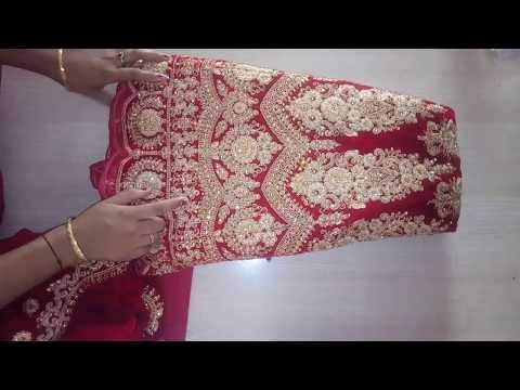 Back side hook full blouse cutting & stitching/Bridal blouse cutting & stitching