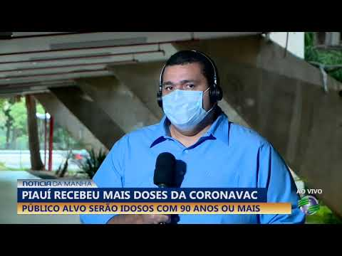 Piauí recebeu mais doses da coronavac e público alvo serão idosos