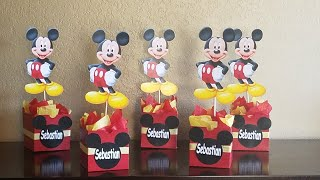DIY Mickey Mouse Inspired Centerpieces// Centros De Mesas